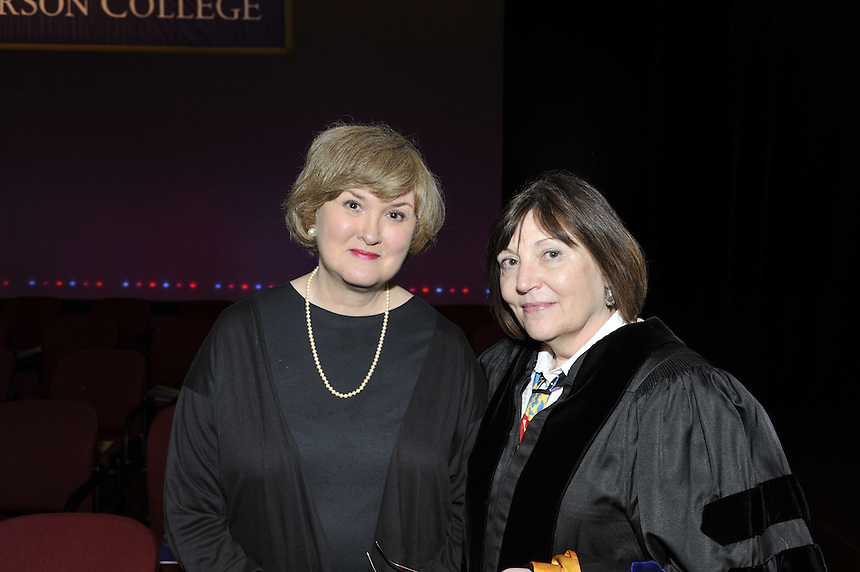 Cynthia Bartlett (left), CSD, Communication Sciences and Disorders. Commencement 2011. Linda Moore is on right.