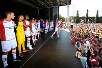 EMMEN - Opendag FC Emmen , Oude Meerdijk, seizoen 2018-2019, 15-07-2018,  de selectie wordt gepresenteerd