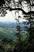 Amazon, Brazil. View from the Chapada dos Guimaraes over the foothills and cerrados vegetation below; Mato Grosso State.