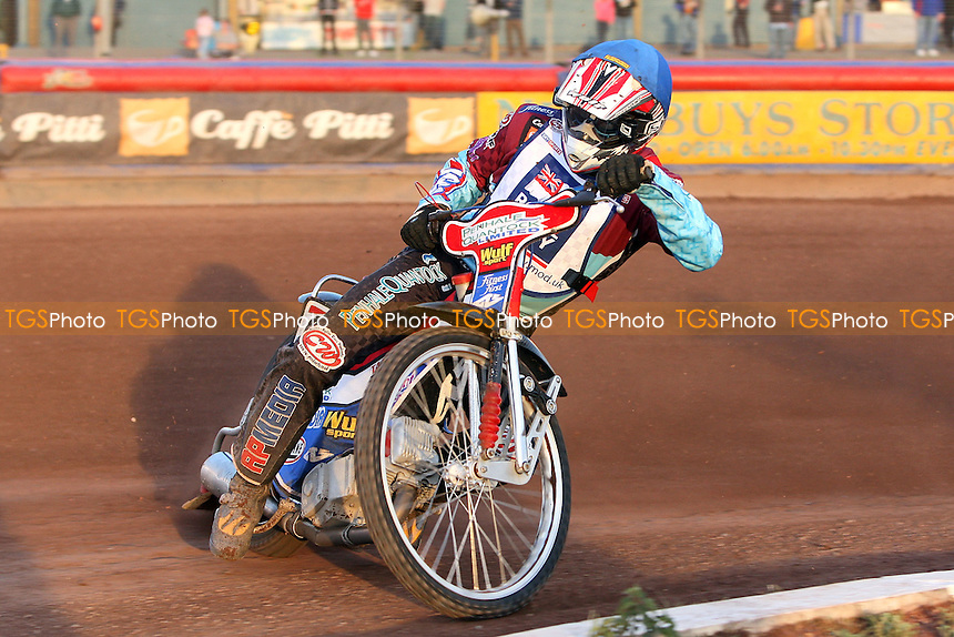 Heat 7: Phil Morris in action - Sky Sports Elite League Speedway at Arena Essex Raceway, Purfleet, Essex - 24/06/09- MANDATORY CREDIT: Gavin Ellis/TGSPHOTO - Self billing applies where appropriate - 0845 094 6026 - contact@tgsphoto.co.uk - NO UNPAID USE.