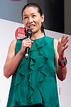 Japanese tennis player Kimiko Date speaks during the ELLE WOMEN in SOCIETY 2018 on June 16, 2018, Tokyo, Japan. The annual event focuses on working women's role in the Japanese society through various seminars where top businesswomen, celebrities and leaders are invited to speak. (Photo by Rodrigo Reyes Marin/AFLO)