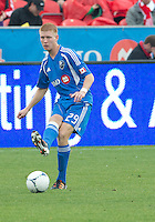 20 October 2012: Montreal Impact defender Calum Mallace #29 in action during an MLS game between the Montreal Impact and Toronto FC at BMO Field in Toronto, Ontario..The game ended in a 0-0 draw..