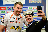 Picture by SWpix.com 07/10/2017 - Rugby League - Betfred Super League Grand Final - Castleford Tigers v Leeds Rhinos, Old Trafford Manchester,England - The Brief, Michael Shenton selfie