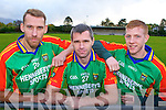 Fergal Griffin (centre) captain of the mid Kerry team with Sean O'Sullivan (left) and Pa Kilkenny at the mid Kerry press day in Beaufort on Saturday.