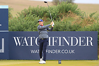 Matt Wallace (ENG) on the 5th tee during Round 2 of the Alfred Dunhill Links Championship 2019 at Kingbarns Golf CLub, Fife, Scotland. 27/09/2019.<br /> Picture Thos Caffrey / Golffile.ie<br /> <br /> All photo usage must carry mandatory copyright credit (© Golffile | Thos Caffrey)