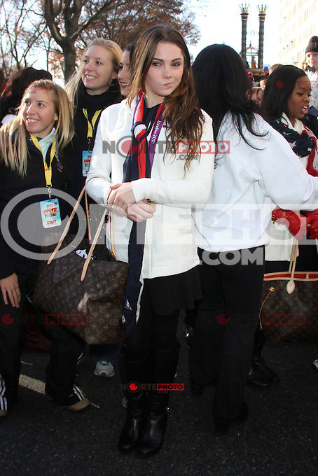 NEW YORK, NY - NOVEMBER 22: McKayla Maroney at the 86th Annual Macy's Thanksgiving Day Parade on November 22, 2012 in New York City. Credit: RW/MediaPunch Inc. /NortePhoto
