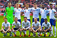 England team photo during the International Euro U21 Qualification match between England U21 and Ukraine U21 at Bramall Lane, Sheffield, England on 27 March 2018. Photo by Stephen Buckley / PRiME Media Images.