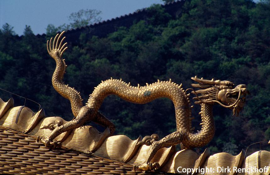 Xumifushou Mia (Tempel), Dachdetail, Chengde, China, Unesco-Weltkulturerbe