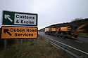 TO GO WITH BREXIT STORY BY WWILLIAM WALLIS DATE: 31 Jan 2019 - Customs and Excise sign just outside Newry, South Armagh, Northern Ireland. Photo/Paul McErlane