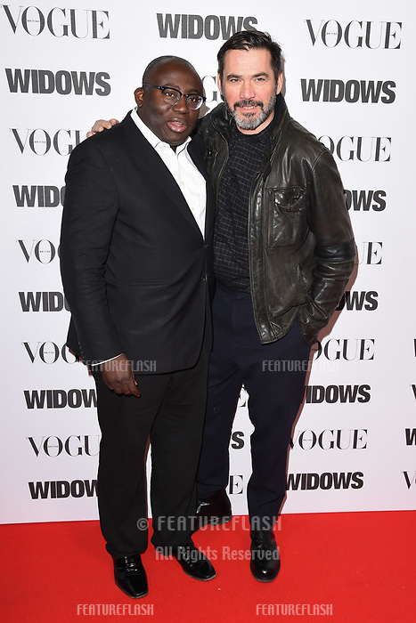LONDON, UK. October 31, 2018: Edward Enninful &amp; Roland Mouret at the &quot;Widows&quot; special screening in association with Vogue at the Tate Modern, London.<br /> Picture: Steve Vas/Featureflash