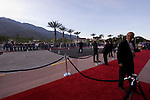 Fans wait, hoping to get a glimpse of actors during the Palm Springs International Film Festival red carpet and awards show at the Palm Springs Convention Center on Saturday.