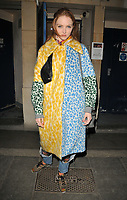 Lily Cole at the &quot;The Philanthropist&quot; theatre cast departures, Trafalgar Studios, Whitehall, London, England, UK, on Tuesday 18 April 2017.<br /> CAP/CAN<br /> &copy;CAN/Capital Pictures