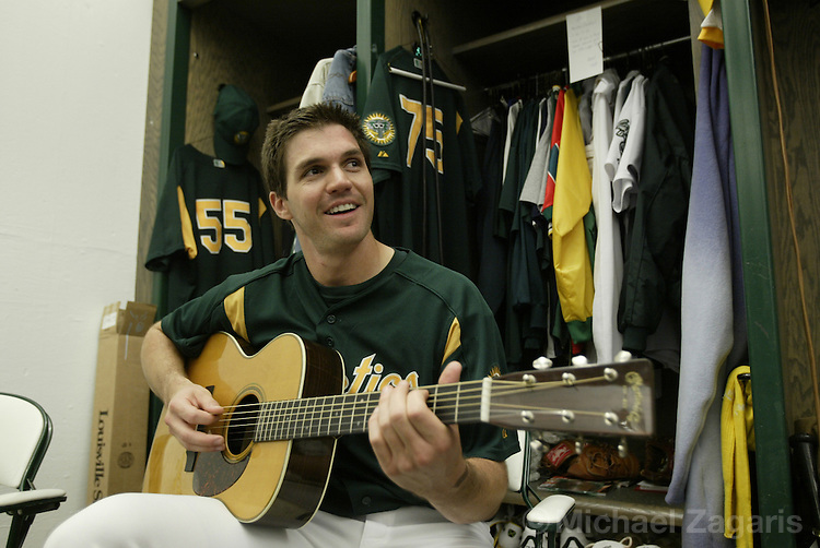 OAKLAND, CA - JUNE 5:  Barry Zito of the Oakland Athletics before the MLB game against the Toronto Blue Jays at Network Associates Coliseum on June 5, 2004 in Oakland, California. The A's defeated the Blue Jays 4-0. (Photo by Michael Zagaris/MLB Photos via Getty Images)