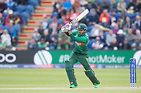 Soumya Sarkar (Bangladesh) drives into the off side during England vs Bangladesh, ICC World Cup Cricket at Sophia Gardens Cardiff on 8th June 2019