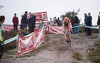 A very dominant Wout Van Aert (BEL/Vastgoedservice-Golden Palace) leading the race once again this season<br /> <br /> Men Elite Race<br /> Superprestige Zonhoven 2015