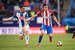 Filipe Luis of Atletico de Madrid fights for the ball with Jose Manuel Jurado Marin of RCD Espanyol during the La Liga match between Atletico de Madrid and RCD Espanyol at the Vicente Calderón Stadium on 03 November 2016 in Madrid, Spain. Photo by Diego Gonzalez Souto / Power Sport Images