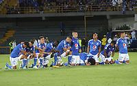 BOGOTÁ -COLOMBIA-5-JUNIO-2016.Millonarios eliminado por el Junior .<br /> Millonarios y Atlético Junior en partido de vuelta de los cuadrangulares finales de la Liga Aguila I 2016 jugado en el estadio Nemesio Camacho El Campin de la ciudad de Bogota./ Millonarios and Atletico Junior in the second leg match of the finals quadrangular of the Liga Aguila I 2016 played at the Nemesio Camacho El Campin Stadium in Bogota city<br />  . Photo: VizzorImage / Felipe Caicedo / Staff