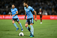 28th February 2020; Netstrata Jubilee Stadium, Sydney, New South Wales, Australia; A League Football, Sydney FC versus Western Sydney Wanderers; Milos Ninkovic of Sydney  looks for passing options