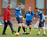 07.05.2018 Rangers training: Jimmy Nicholl. David Bates, Jason Cummings and Jason Holt