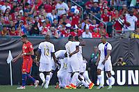 Action photo during the match Chile vs Panama, Corresponding to Group -D- America Cup Centenary 2016 at Lincoln Financial Field.<br /> <br /> Foto de accion durante el partido Chile vs Panama, Correspondiente al Grupo -D- de la Copa America Centenario 2016 en el  Lincoln Financial Field, en la foto: Miguel Camargo de Panama celebra su gol<br /> <br /> <br /> 14/06/2016/MEXSPORT/Javier Ramirez.