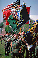 Special Force, April 1982. 30th Anniversary of the Special Force in fron of the Special Force Statue at Fort Bragg, NC.