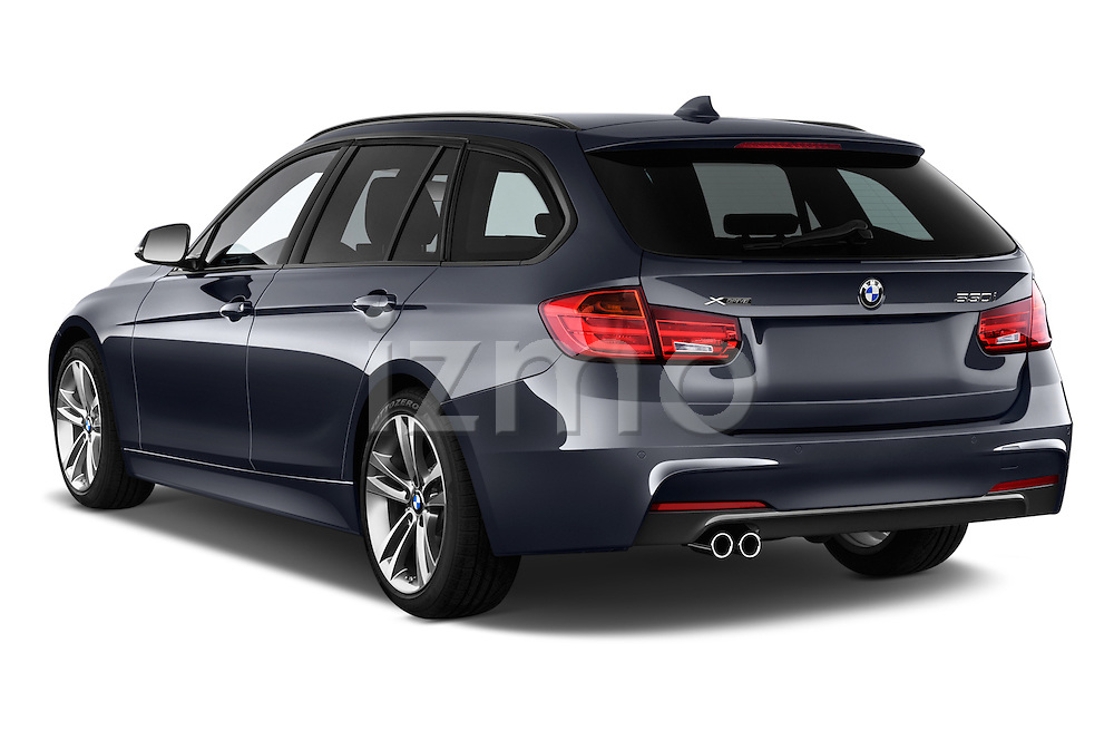Car pictures of rear three quarter view of 2018 BMW 3-Series 328d-Sports-Wagon 5 Door Wagon Angular Rear