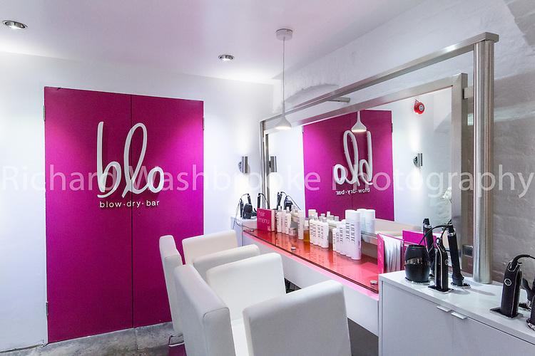 C&amp;S Ltd  Blo Hairdressers, Covent Garden, London  9th December 2014<br /> <br /> Photo: Richard Washbrooke Sports Photography