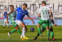v.l. Julian Green (SpVgg Greuther Fuerth), Victor Palsson (SV Darmstadt 98), Daniel Keita-Ruel (SpVgg Greuther Fuerth), David Raum (SpVgg Greuther Fuerth)<br /> <br /> - 29.05.2020: Fussball 2. Bundesliga, Saison 19/20, Spieltag 29, SV Darmstadt 98 - SpVgg Greuther Fuerth, emonline, emspor, <br /> <br /> Foto: Florian Ulrich/Jan Huebner/Pool VIA Marc Schüler/Sportpics.de<br /> Nur für journalistische Zwecke. Only for editorial use. (DFL/DFB REGULATIONS PROHIBIT ANY USE OF PHOTOGRAPHS as IMAGE SEQUENCES and/or QUASI-VIDEO)