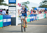 Picture by Alex Broadway/SWpix.com - 06/09/17 - Cycling - UCI 2017 Mountain Bike World Championships - XCO - Cairns, Australia - Grant Ferguson of Great Britain competes in the Cross Country Team Relay.