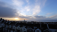 2016 11 09 Sun rises over Swansea Bay, Wales UK