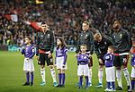19.09.2019 Rangers v Feyenoord: Feyenoord players and mascots