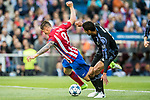 Fernando Torres (l) of Atletico de Madrid competes for the ball with Raphael Varane of Real Madrid during their 2016-17 UEFA Champions League Semifinals 2nd leg match between Atletico de Madrid and Real Madrid at the Estadio Vicente Calderon on 10 May 2017 in Madrid, Spain. Photo by Diego Gonzalez Souto / Power Sport Images