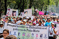 Mexico City, DF May 10, 2014. People take part of a march demanding the government to search and locate their missing children during the third National March for Dignity.  Miguel Angel Pantaleon/VIEWpress