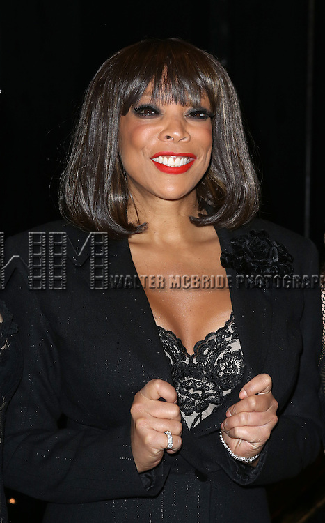 "Wendy Williams backstage after Wendy Williams makes her Broadway stage debut as Matron ""Mama"" Morton in CHICAGO at the Ambassador Theatre on July 1, 2013 in New York City."