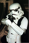 Storm trooper from the new Movie Star Wars.Pic Fran Caffrey