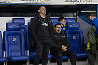 Leeds United Assistant Head Coachs Diego Reyes (left) &amp; Pablo Quiroga (right) <br /> <br /> Photographer David Horton/CameraSport<br /> <br /> The EFL Sky Bet Championship - Reading v Leeds United - Tuesday 12th March 2019 - Madejski Stadium - Reading<br /> <br /> World Copyright &copy; 2019 CameraSport. All rights reserved. 43 Linden Ave. Countesthorpe. Leicester. England. LE8 5PG - Tel: +44 (0) 116 277 4147 - admin@camerasport.com - www.camerasport.com