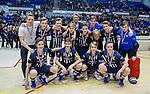 ROTTERDAM  - Team van HDM met zilver. NK Zaalhockey  finale . hdm JB1-Schaerweijde JB1 (3-5) . Schaerweijde  Nederlands Kampioen -16.   COPYRIGHT KOEN SUYK