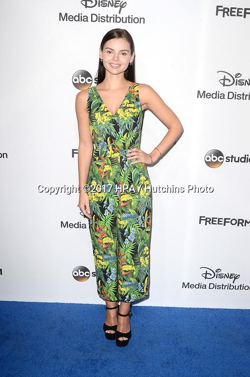 LOS ANGELES - MAY 21:  Eline Powell at the 2017 ABC/Disney Media Distribution International Upfront at the Walt Disney Studios on May 21, 2017 in Burbank, CA