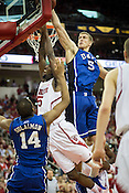 NC State's C.J. Leslie goes up against Duke's Mason Plumlee, PNC Arena, Raleigh, NC, Jan. 12, 2013. Leslie finished with 25 points while Plumlee put up 15.