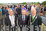 Tralee Mayor Pat Hussey, MEP Sean Hussey and Seamus Fitzgerald  pictured at the opening of the Tralee Bypass Road on Friday.