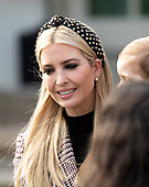 "First Daughter and Advisor to the President Ivanka Trump arrives prior to United States President Donald J. Trump and First Lady Melania Trump hosting the National Thanksgiving Turkey Pardoning Ceremony in the Rose Garden of the White House in Washington, DC on Tuesday, November 20, 2018.  According to the White House Historical Association, the ceremony originated in 1863 when US President Abraham Lincoln's granted clemency to a turkey. The tradition jelled in 1989 when US President George HW Bush stated ""But let me assure you, and this fine tom turkey, that he will not end up on anyone's dinner table, not this guy -- he's granted a Presidential pardon as of right now -- and allow him to live out his days on a children's farm not far from here.""<br /> Credit: Ron Sachs / CNP<br /> (RESTRICTION: NO New York or New Jersey Newspapers or newspapers within a 75 mile radius of New York City)"