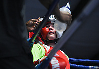 NWA Democrat-Gazette/CHARLIE KAIJO Image from the Gym Wars talent sparring practice, Saturday, August 3, 2019 at Straightright Boxing and Fitness in Springdale.  <br /> <br /> Friends and family members watched their youth and adult fighters from Straightright's Springdale, Siloam Springs, Sherwood and Little Rock locations fight in a no win / no loss sparring practice. Straightright collects donations from the sparring practice to benefit the boxing team as they travel to tournaments.