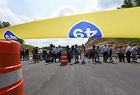 NWA Democrat-Gazette/FLIP PUTTHOFF <br />A crowd gathers Wednesday May 10 2017 for the dedication of a section of the Bella Vista bypass. The route is planned to eventually be part of Interstate 49.