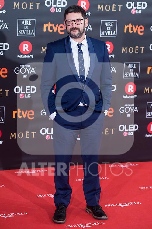 Manolo Solo attends red carpet of Goya Cinema Awards 2018 at Madrid Marriott Auditorium in Madrid , Spain. February 03, 2018. (ALTERPHOTOS/Borja B.Hojas)