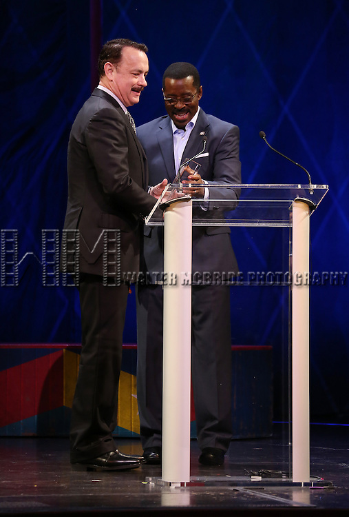 Tom Hanks, Courtney B. Vance during the 69th Annual Theatre World Awards Presentation at the Music Box Theatre in New York City on June 03, 2013.