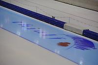 SCHAATSEN: THIALF: Heerenveen, 01-12-2011, ijsstadion, binnen, logo in ijs, ©foto: Martin de Jong