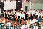 Moyvane Stictly Come Dancing: Then dancers who part in the Strictly Come dancing event at Moyvane community centre on Sunday night last doing their show dance.
