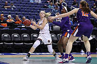 GREENSBORO, NC - MARCH 6: Cameron Swarz of Boston College passes the ball during a game between Clemson and Boston College at Greensboro Coliseum on March 6, 2020 in Greensboro, North Carolina.