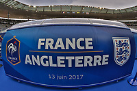 General view of the back of a dug out inside the Stade de France ahead of the International Friendly match between France and England at Stade de France, Paris, France on 13 June 2017. Photo by David Horn/PRiME Media Images.