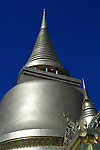 The Phra Rattana Chedi within the Grand Palace and Wat Phra Kaeo complex in Bangkok, Thailand